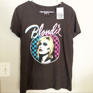 CHASER Dark Charcoal Blondie Graphic Band Tee NWT